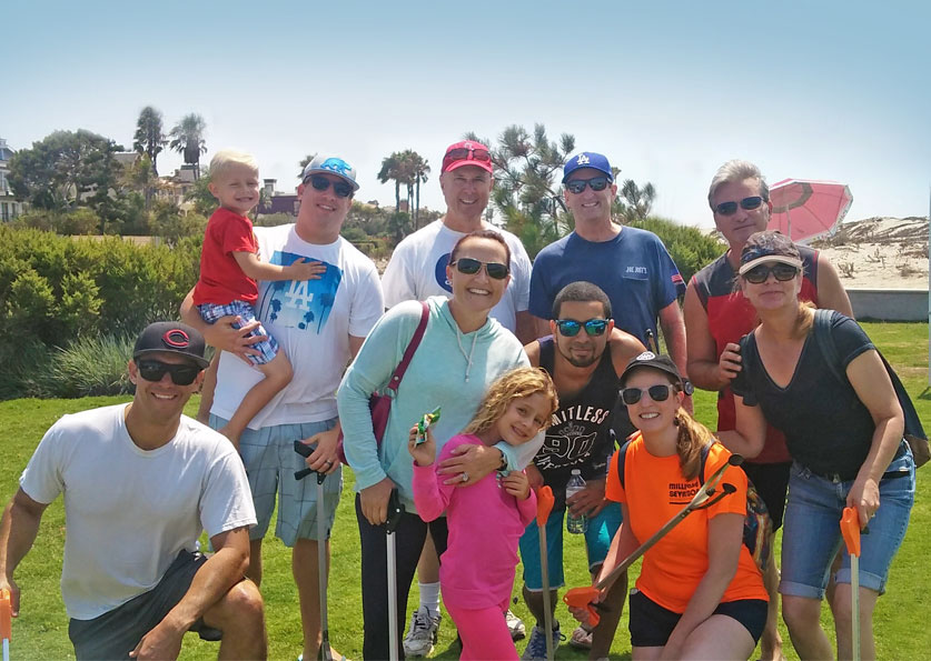 Millie and Severson participates in Beach Clean-up