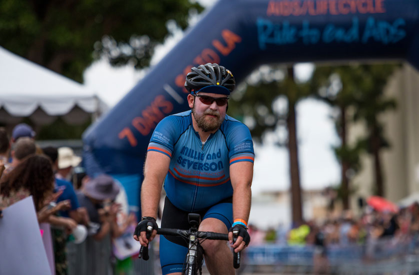 Sean McMahon Completes AIDS/LifeCycle for Second Year in a Row