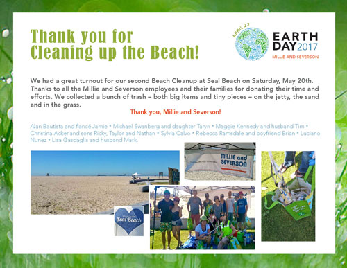 Thank you to our volunteers for cleaning up Seal Beach!