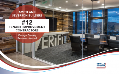 Smith and Severson Builders Ranked #12 Tenant Improvement Contractor by OCBJ