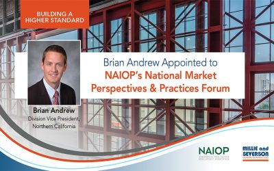 Brian Andrew Appointed to NAIOP's National Market Perspectives & Practices Forum