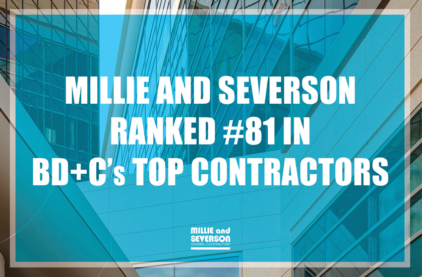 Millie and Severson Ranked #81 in BD+C's Top Contractor Firms