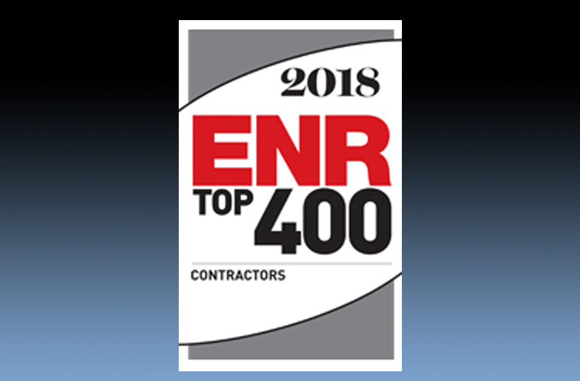 Millie and Severson named to ENR's Top 400 Contractors Again. #218 in 2018