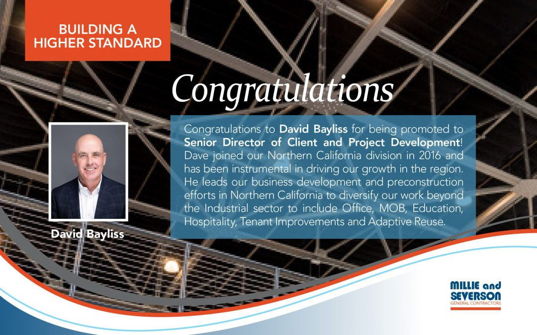 Congratulations, David Bayliss!